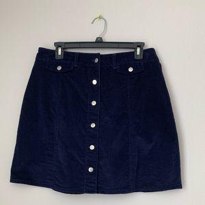Suede/corduroy mini skirt